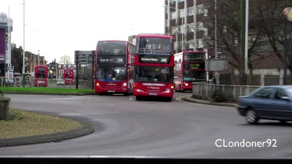 London Buses at Romford, East London 12-01-15