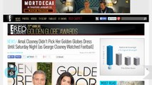 Amal Clooney Didn't Pick Her Golden Globes Dress Until Saturday Night (as George Clooney Watched Football)