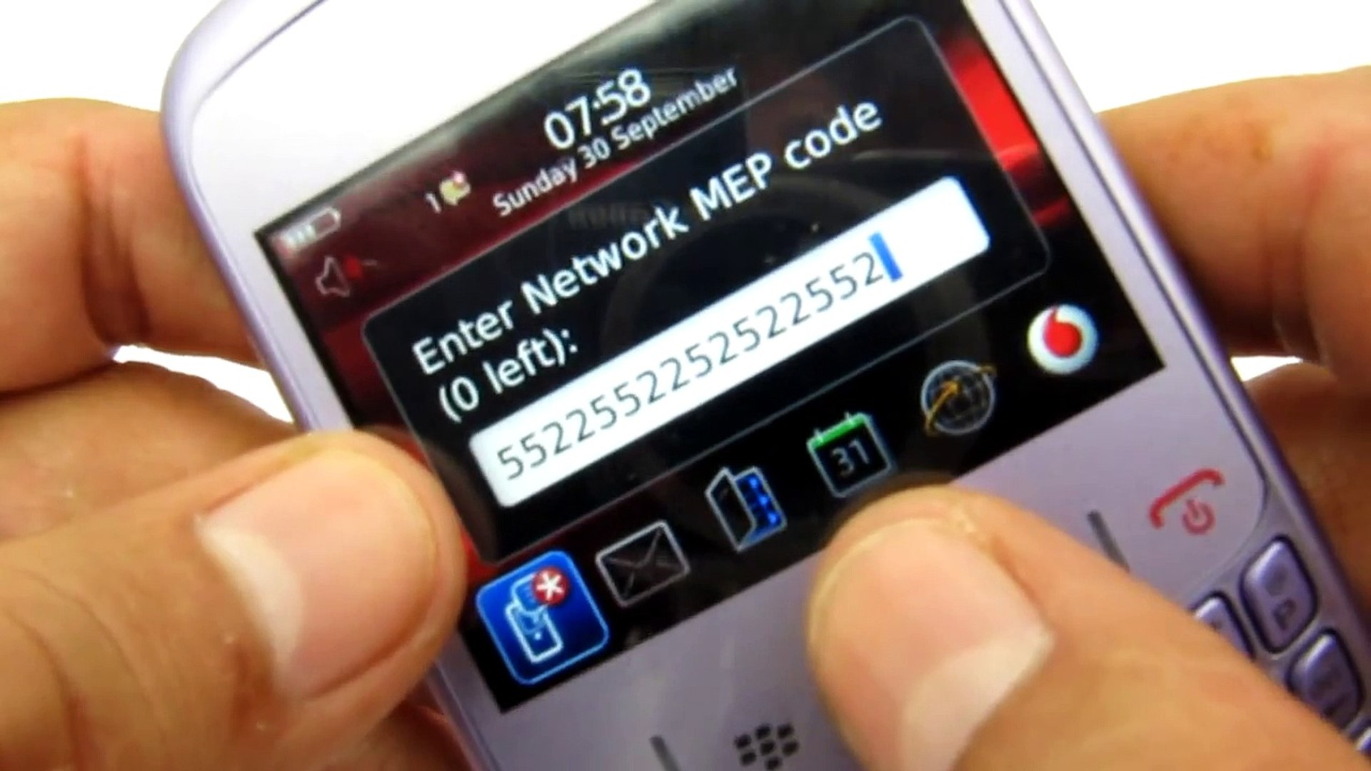 How to fix a Blackberry Curve Bold Storm 0 tries left unlock solution reset  MEP 0 ZERO