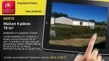 A vendre - maison - AMBARES ET LAGRAVE (33440) - 4 pièces - 78m²