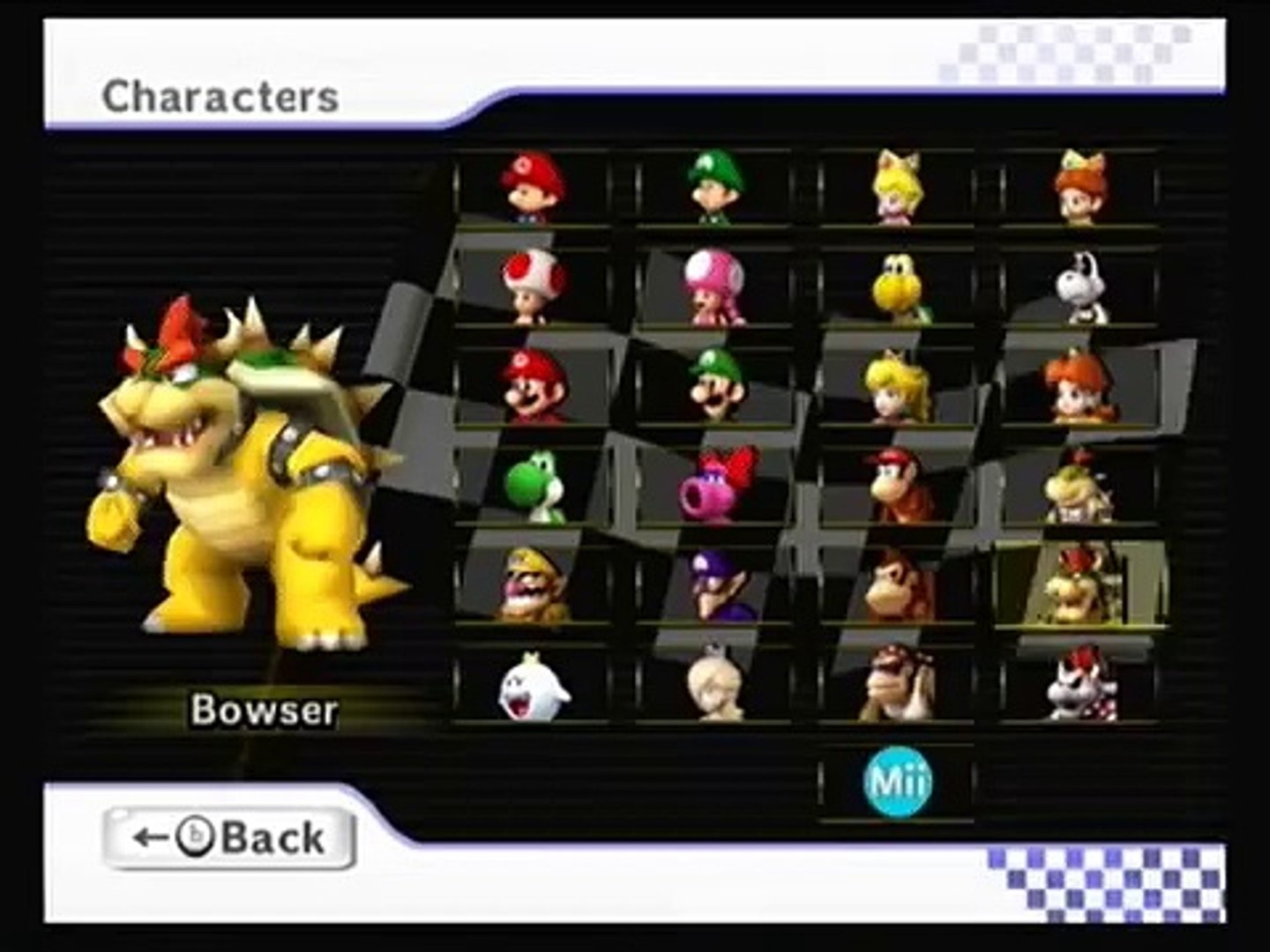 Mario Kart Wii All Characters Video Dailymotion