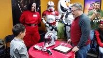 Un enfant handicapé fan de Star Wars reçoit une prothèse de bras de Storm Trooper!