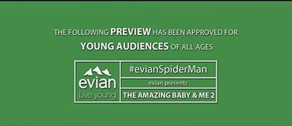 """BETC Paris pour Evian (Danone) - eau minérale, """"The amazing baby & me 2, avec Spiderman"""" - mars 2014 - trailer"""