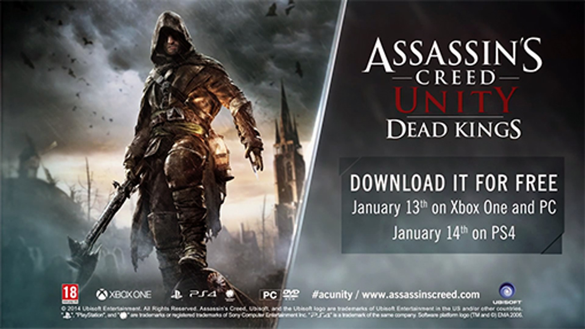 Assassin S Creed Unity Dead Kings Dlc Gameplay Trailer Ps4 Xbox One Full Hd Video Dailymotion