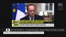 Le discours de François Hollande en l'honneur des policiers tués dans les attentats