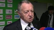 FOOT - L1 - OL - Aulas : «Ça faisait longtemps que Saint-Etienne n'arrivait pas à nous battre ici !»