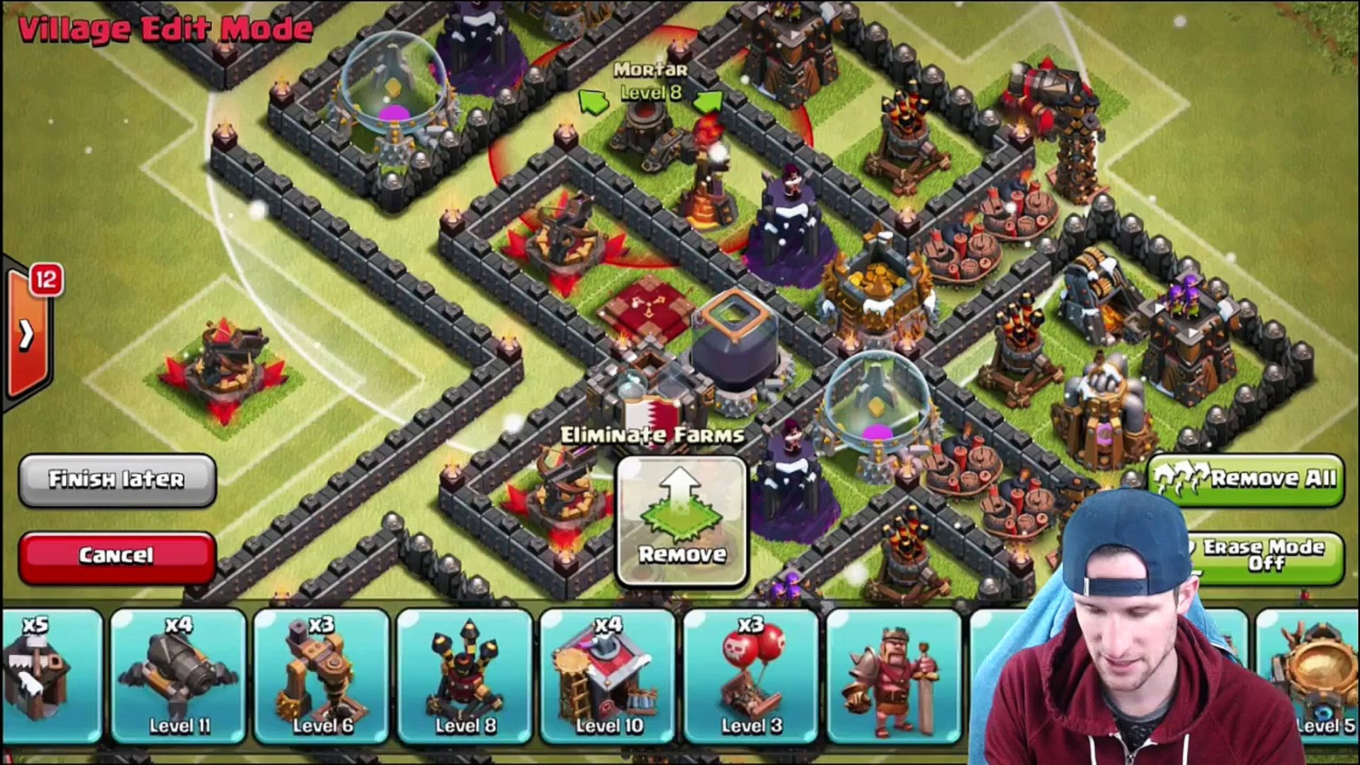 Clash Of Clans Th10 Farming Base Protect Loot Video