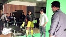 "Gillette (Procter & Gamble) - produits de rasage, ""Trading Planes, avec Lionel Messi et Roger Federer"" - février 2014 - making of"