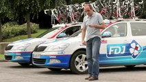 Française des Jeux (FDJ) - jeux de hasard, sponsor de l'équipe cycliste du Tour de France FDJ-BigMat - juillet 2012
