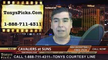 Phoenix Suns vs. Cleveland Cavaliers Free Pick Prediction NBA Pro Basketball Odds Preview 1-13-2015