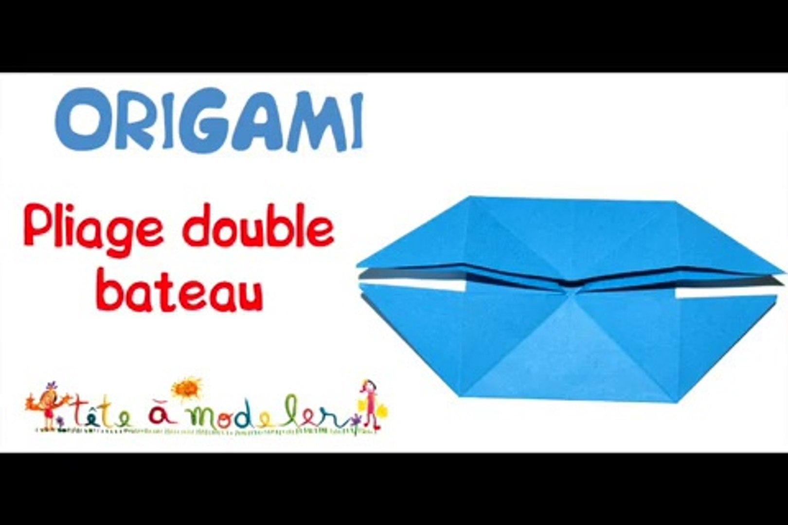 Base Pliage Origami En Double Bateau Video Dailymotion