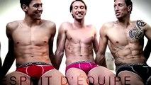 """Hom - sous-vêtements masculins, """"Enjoy the best, avec l'équipe de France de natation masculine"""" - mai 2012"""