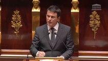 Manuel Valls, ovationné, rend hommage aux forces de l'ordre et vise Dieudonné dans son discours à l'Assemblée