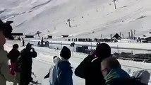 رووووعة فيديو في قمة الروعة لسيارة تتزحلق على الثلج