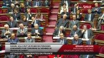 Le Sénat rend hommage aux victimes des attentats contre Charlie Hebdo, de Montrouge et de la porte de Vincennes