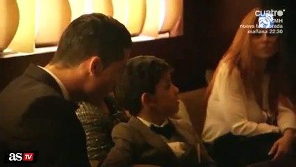 Filho de Cristiano Ronaldo faz questão de cumprimentar Messi