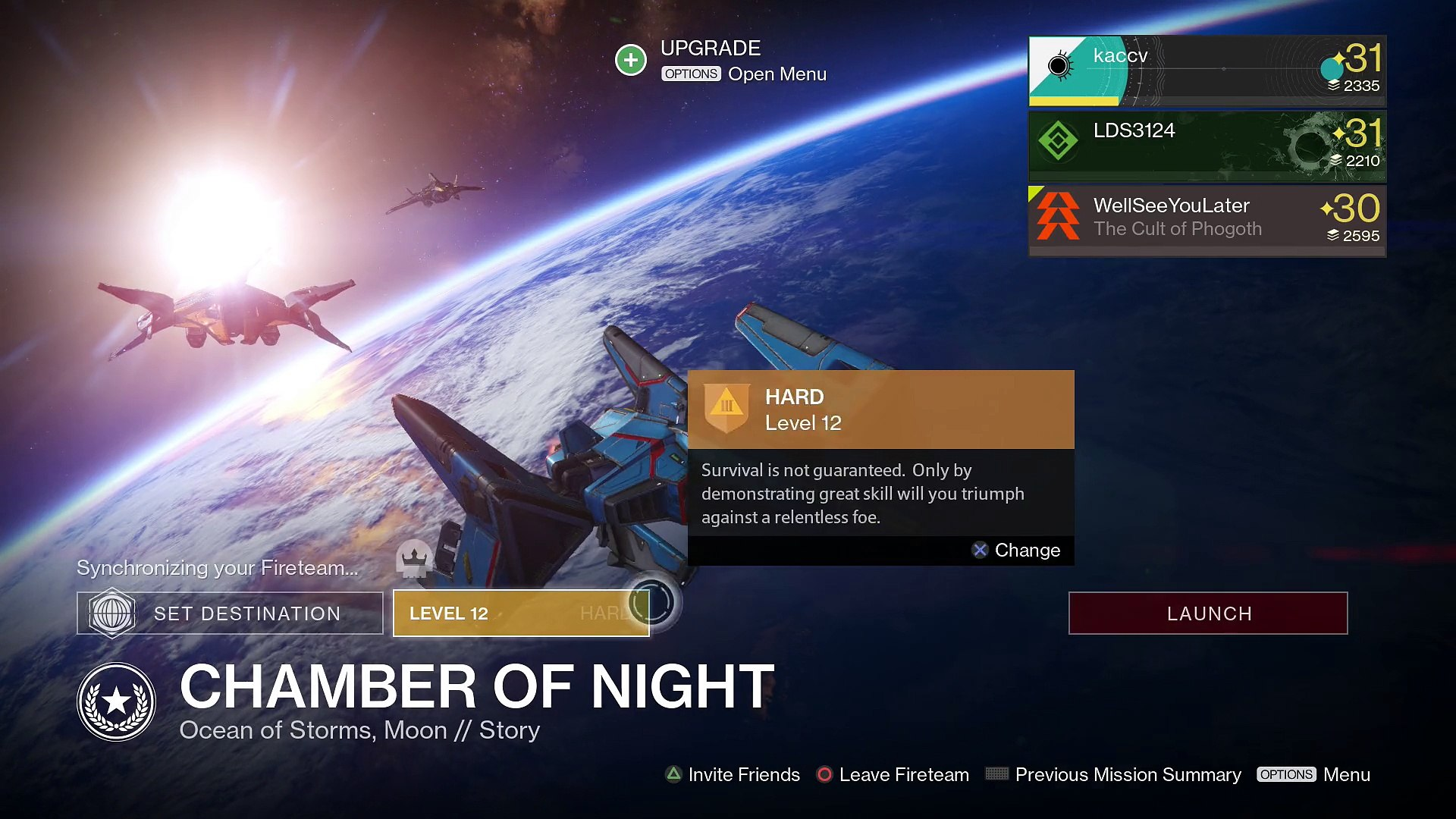Destiny PS4 [Invective] Coop Part 667 - (Chamber of Night, Moon) Story [With Commentary]