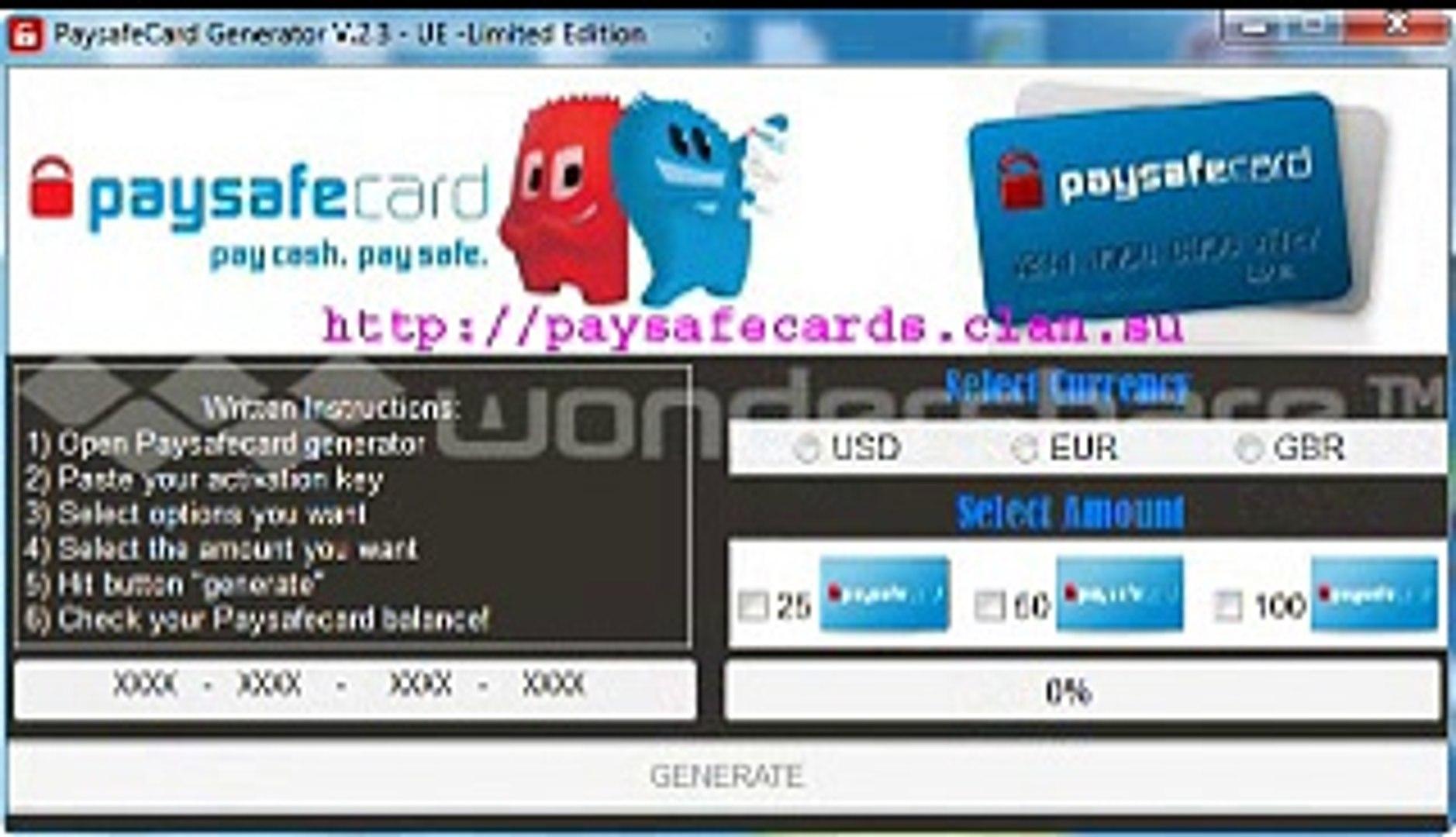 PaySafeCard Code Generator - PaySafeCard Codes UPDATED LINK December 2014