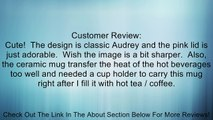 Vandor 92051 Audrey Hepburn Breakfast at Tiffany's 12 oz Double Wall Ceramic Travel Mug with Silicone Lid, Pink, Black, and White Review