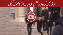 Prime Minister of Denmark Down on the stairs Palace -Elysee- in Paris 2015