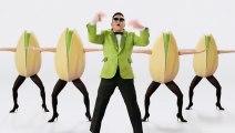 """Wonderful Pistachios - pistaches, """"Get Crackin', avec Psy et Gangnam Style"""" - février 2013"""