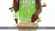 "Wonderful Pistachios - pistaches, ""Harlem Globetrotters, Village People, Psy"" - mai 2013 - Harlem Globetrotters, basket"