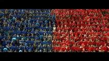 """TF1 - chaîne de télévision, """"Les rouges et les bleus"""" - octobre 2011 - """"On se retrouve tous sur TF1"""", double spot"""