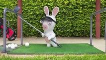 """Ubisoft - jeu vidéo Les Lapins Crétins, """"Les Lapins Crétins au Golf"""" - avril 2013"""