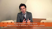 Social Media Club - démocratie et mdias sociaux - avril 2009 - Nicolas Vanbremeersch, alias Versac, fondateur de Spintank