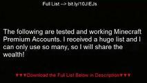 Minecraft Premium Account List [JULY 2013]