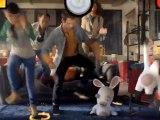 """Ubisoft - jeu vidéo, """"Les Lapins Crétins partent en Live, sur Xbox 360 Kinect"""" - novembre 2011 - canapé"""