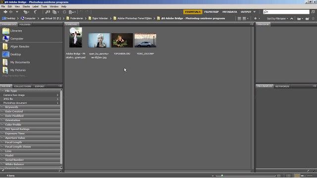 #0 Adobe Photoshop CS6 Eğitim Seti – Bridge CS6 ile Önizleme
