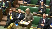 Theresa May gives a statement on a terror threat in the UK
