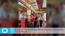 Study: 53 Percent Shun Movie Theaters Citing High Ticket Prices