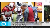 Stormtroopers Presenting Boy With New 3D-printed Arm