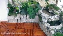Ván Sàn Gỗ Tự Nhiên - Trang Trí Sân Vườn - Trang Trí Ngoại Thất - Chung cư Trung Hòa & Nhân Chính - Hà Nội