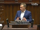 Poseł Cezary Olejniczak - Wystąpienie z dnia 15 stycznia 2015 roku.