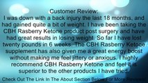 Raspberry Ketones by CBH (500mg) plus African Mango, L-Carnitine, Green Tea, and Cocoa Bean Extract Review