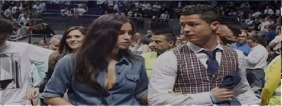Cristiano Ronaldo And Girlfriend Irina Shayk (2014) -Hot Irina Shayk Make a Perfect Courtside/HD