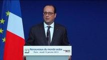 """Hollande aux pays arabes: """"la France est un pays ami, mais qui a des règles, des principes, des valeurs"""""""