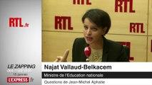 """""""Un jeune sur cinq adhère à la théorie du complot"""" déclare Najat Vallaud-Belkacem - Zapping des Matinales"""