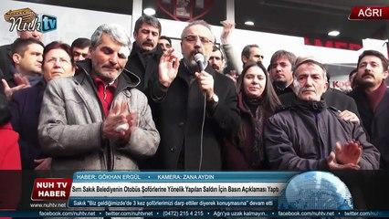 Sırrı Sakık Belediyenin Otobüs Şoförlerine Yönelik Yapılan   Saldırı İçin Basın Açıklaması Yaptı