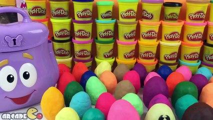 40 Play Doh Surprise Eggs Маша и Медведь Kinder Surprise Eggs Dora's Backpack Dora The Explorer
