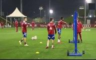 Fantastic Skill Pepe Reina, Robert Lewandowski, Frank Ribery Football Tennis Bayern Munich