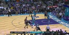 P.J. Hairston flop on Tony Parker- San Antonio Spurs at Charlotte Hornets