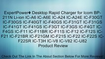 ExpertPower� Desktop Rapid Charger for Icom BP-211N Li-ion IC-A6 IC-A6E IC-A24