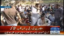 Gullu Butt Caught On Camera Doing Straight Firing On Protesters In Karachi
