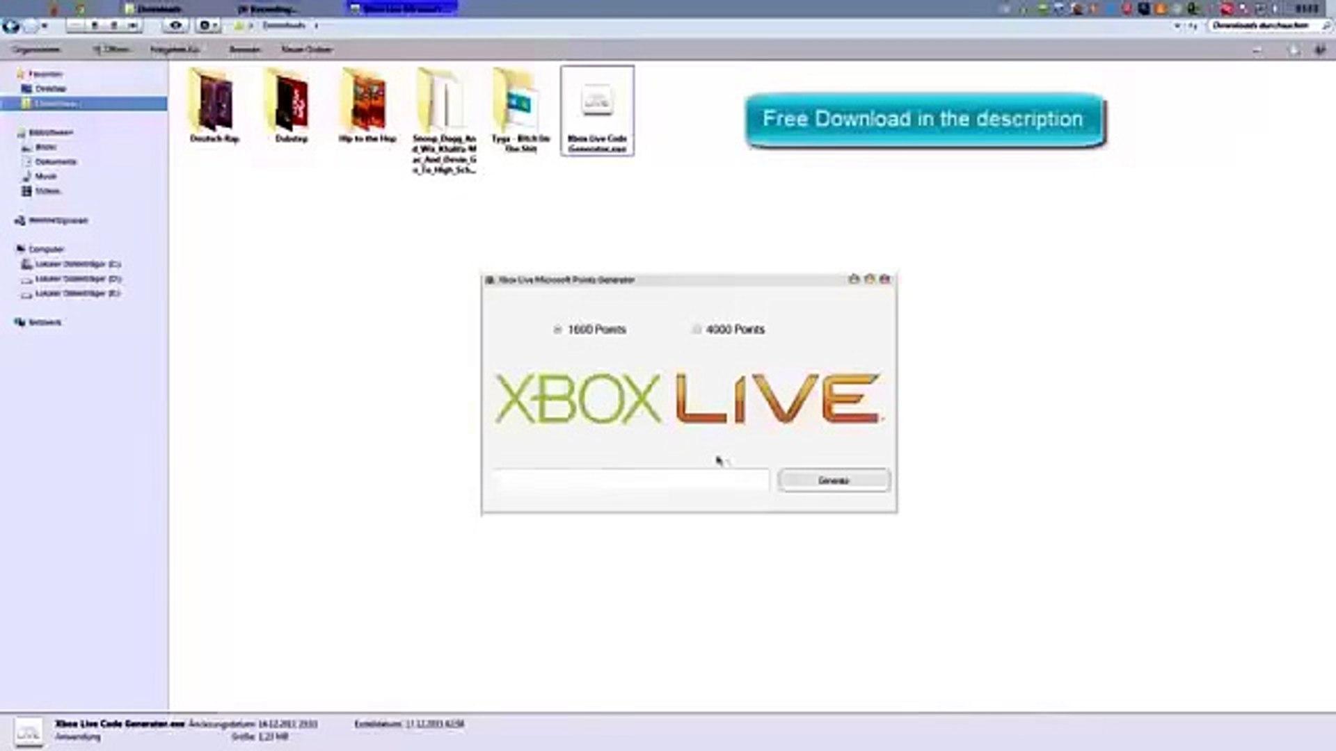 XBOX LIVE générateur de code - XBOX LIVE generator - 2015