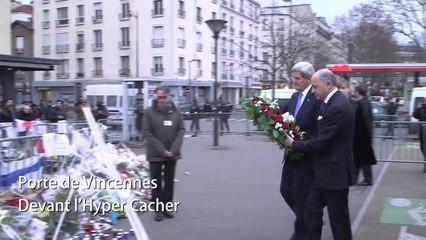 John Kerry à Paris : « Nous partageons la douleur » du peuple français