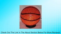 BasketBall Sparkle Lamp Molded Light Glow A slam dunk! Soft Plastic Sport Desk Lamp Review